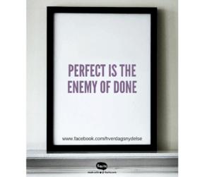 et citat om ikke at sætte barren for højt