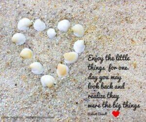 Gode citater - om at nyde de små ting